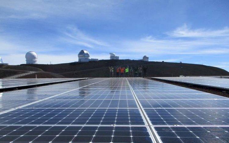Solar PV System Installed on Telescope Facility Atop Maunakea